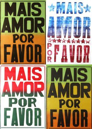 "kit x4 posters ""mais amor por favor""-0"