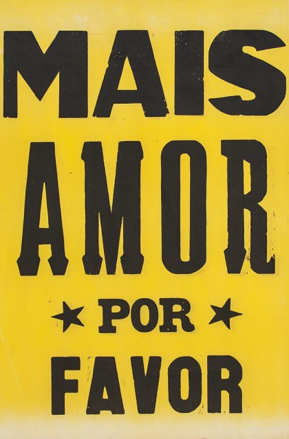 poster mais amor por favor estrelado amarelo 2015-0