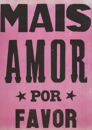 poster mais amor por favor rosa 2015-0