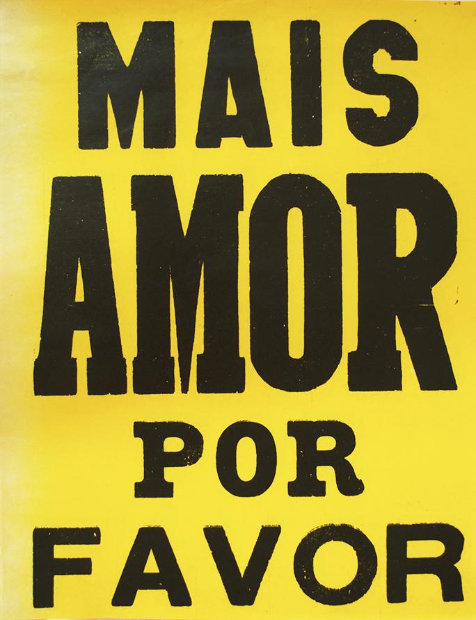 poster mais amor por favor amarelo 2015-0